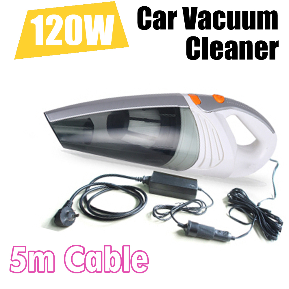 Free Shipping 2015 New High Power 120W 12V Car Vacuum Cleaner Dual Function With Double Filters Super Strong Suction(China (Mainland))