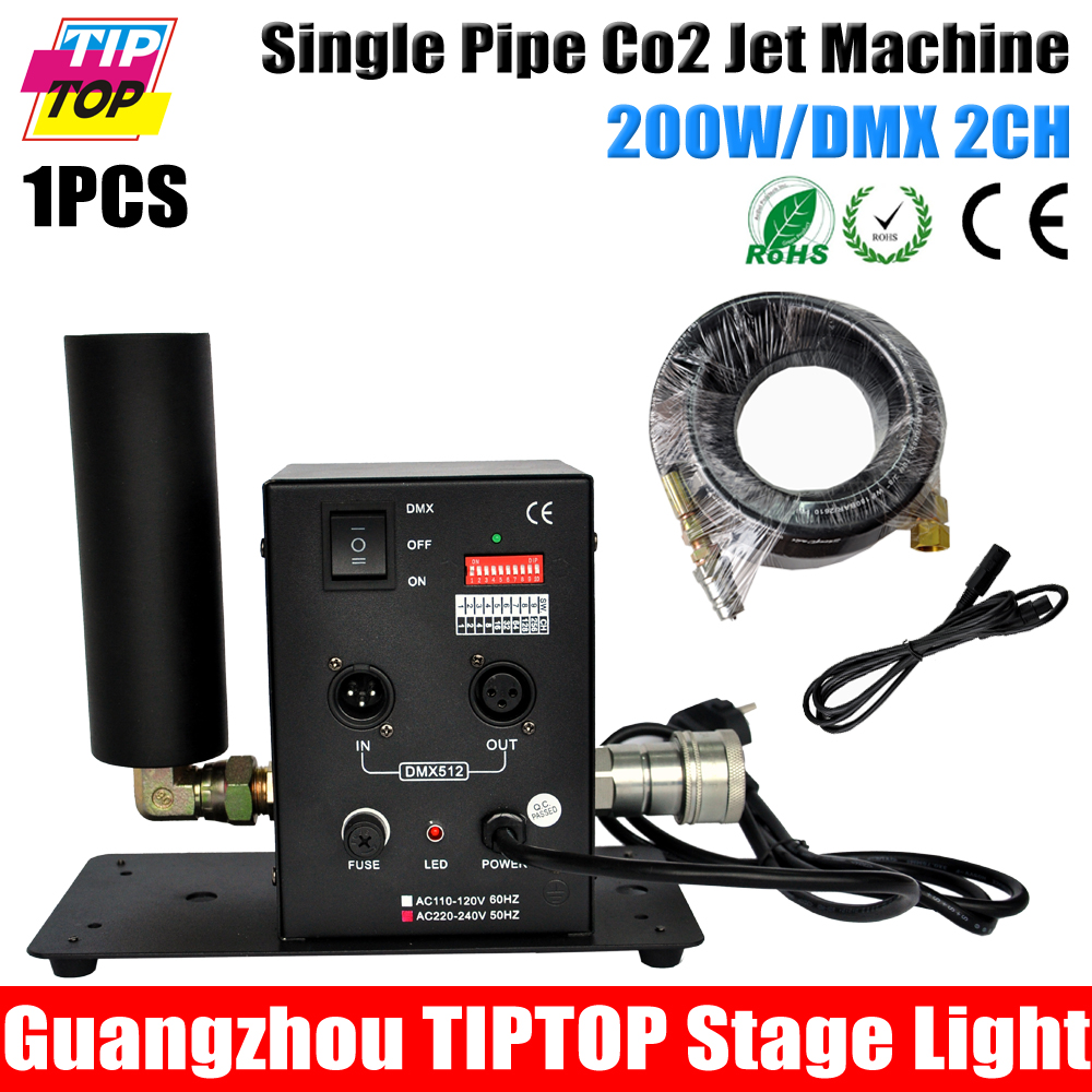 4pcs/lot Cheap price single tube CO2 jet machine ,DMX CO2 Jet Machine,6m Hose,90V-240V CO2 jet DMX 512 Controll<br>