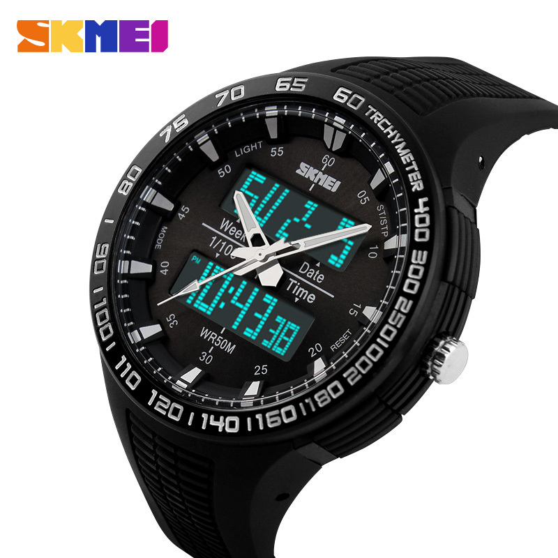 SKMEI 2016 Brand Men Sports Watch LED digital Wristwatch Diving Zone 50M Waterproof Electronic Multifunction Military Watches(China (Mainland))