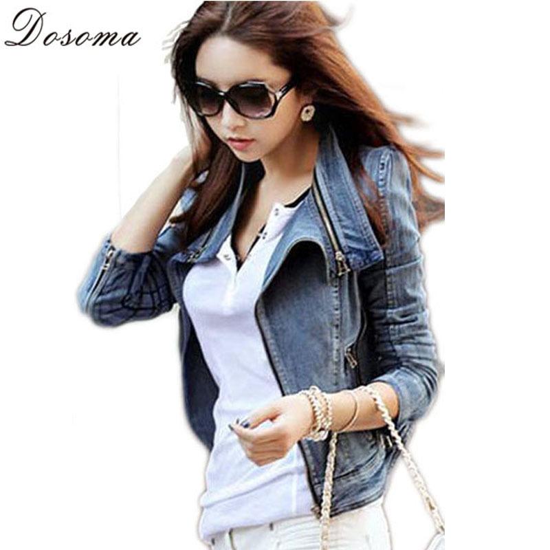 2015 New Arrival Spring Outwear Women Coat Jeans Jacket Ladies Denim Slim Bodycon Short Down Jackets Abrigos Mujer Roupas 4B447(China (Mainland))