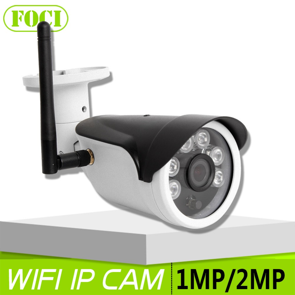 HD 1.0MP 2MP Bullet IP Camera WIFI CCTV Surveillance Camera Night Vision Waterproof Security Wireless IP Camera P2P View(China (Mainland))