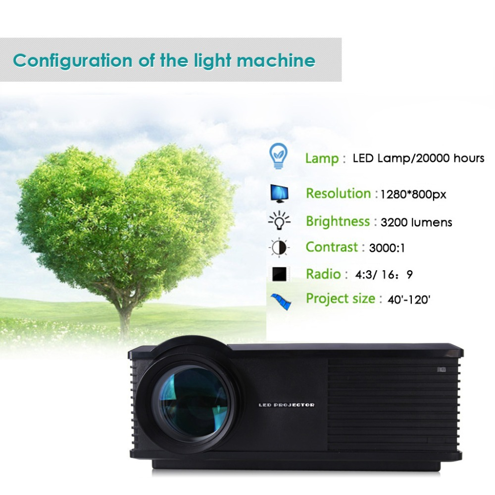 US NEW Wireless Wifi Android 4.2 HD Home Theater LCD Projector 3200 LumenHDMI/TV/AV/VGA/S terminal/USB 1280*800(China (Mainland))