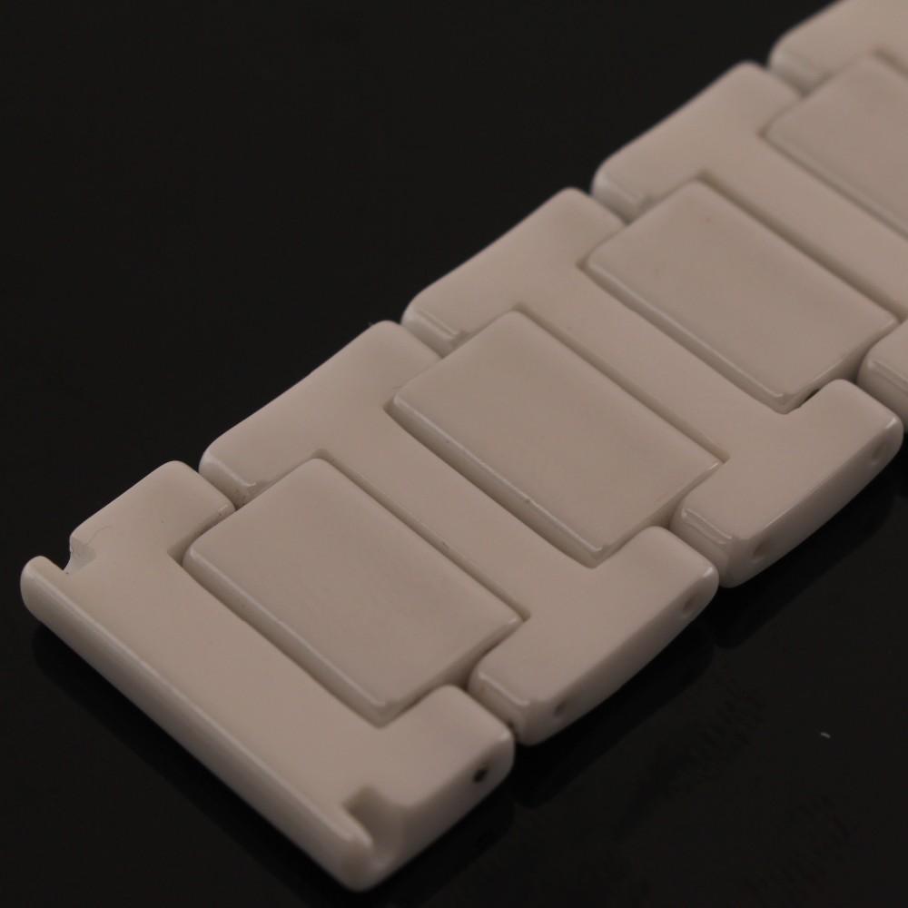 14 мм 16 мм 18 мм 20 мм Высокое качество Серебро Depolyment Смотреть Пряжка Белой Керамики Смотреть Группы Браслеты для мода наручные часы группа