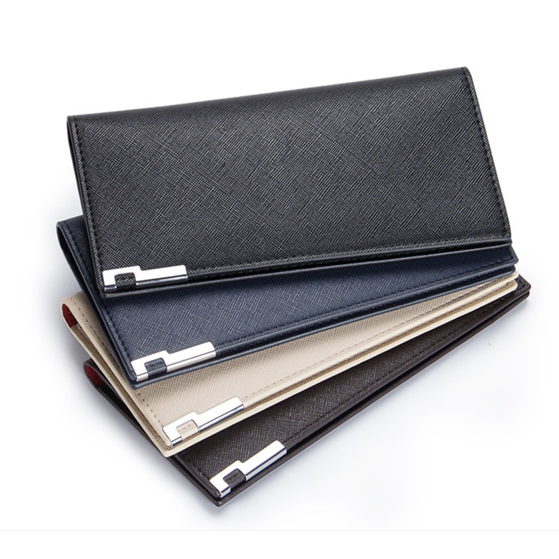 Slim wallet men Thin wallet men leather purse soft men wallets luxury brand famous male clutch money bag small pocket(China (Mainland))