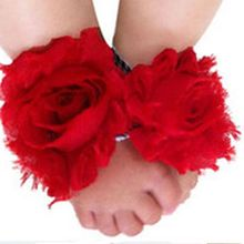 Cool Newborn baby Feet Toddler Flower Shoes Boy Girl Barefoot Blooms(China (Mainland))