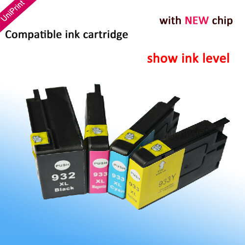 Картридж с чернилами Uniprint 4 HP 932 XL 933 XL HP Officejet Pro 6100 6600 6700 7110 7610 , for hp932 xpro iii series true color pigment ink ciss for hp officejet 7110 7610 7612 6600 6700 printers continuous ink system