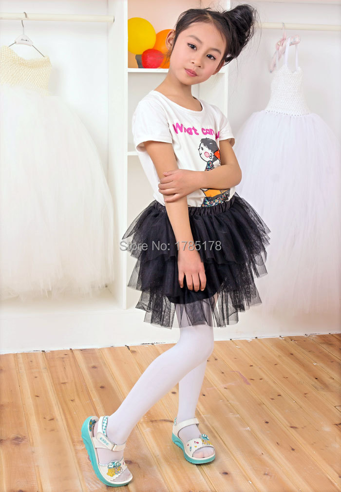 Free shipping 1-8Y girls black skirt customized color and style skirt for children(China (Mainland))