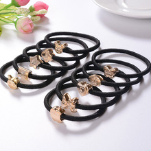2015 New Gilded cartoon rubber band hair rope A variety of styles Hot sell Free shipping