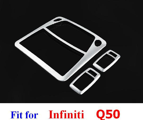 Interior Accessories infiniti 2015 Q50 indoor roof rear front reading light lamp decorative cover trim frame sticker - Car Of The World store