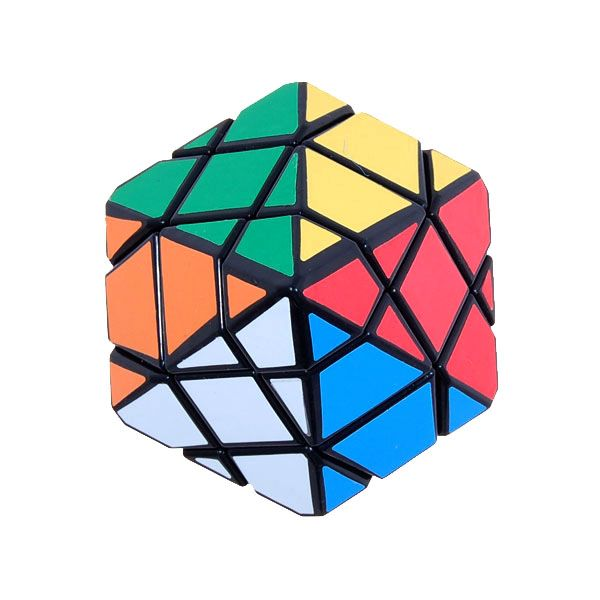 2014 New DS Cheap Puzzle Rhombus Shape Colourful Magic Cube Professional Educational Toys with Black Edges Free Shipping(China (Mainland))