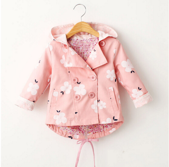 2016 New Girls Fashion jackets Girls Outerwear & Coats Girls Hoodies Jackets Childrens Coat Spring Autumn Baby Coats(China (Mainland))