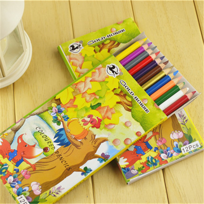 021 color 12 color box color pencil pencil stationery wholesale male girl kindergarten pupils prizes gift