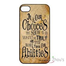 Harry Potter Quotes Protector back skins mobile cellphone cases for iphone 4/4s 5/5s 5c SE 6/6s plus ipod touch 4/5/6