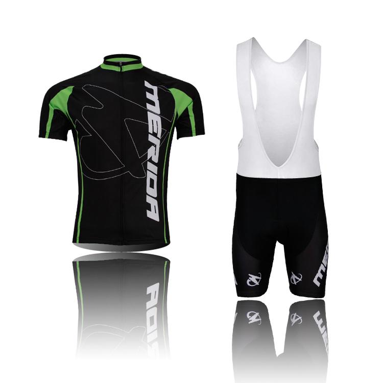 MERIDA team black mens Cycling bicycle short sleeve jersey sets T shirt tops /shorts /BIB Shorts sets(China (Mainland))