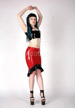 sexy style for adult latex skirts with lady's top