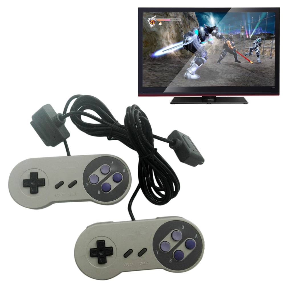 New AC Adapter Power Cord AV Video Cables 2 Controllers Set for Nintendo SNES Promotion<br><br>Aliexpress