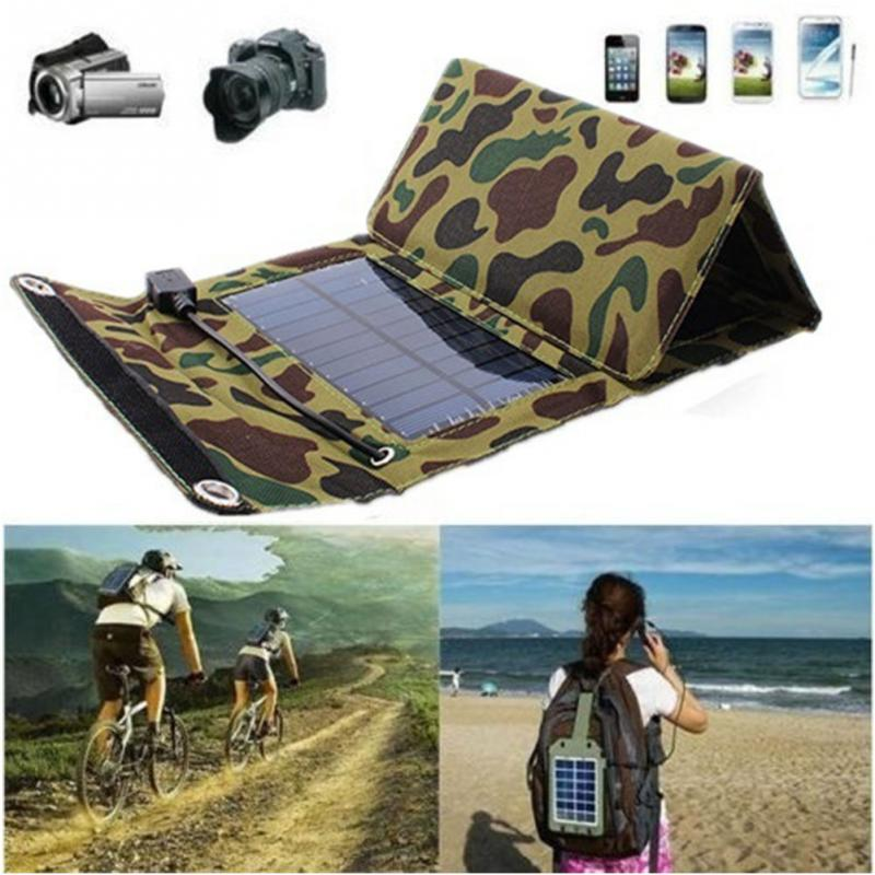 High Quality Waterproof 7W Solar Panel Foldable Electric Power Battery Charger outdoor Sport for Phone Camera MP4 MP3 Ipod(China (Mainland))