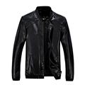 hot sale 2016 new men s leather jacket catwalks shall Slim Motorcycle PU leather Coat high