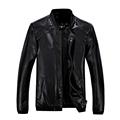 hot sale 2016 new men s leather jacket catwalks shall Slim Motorcycle PU leather Coat high