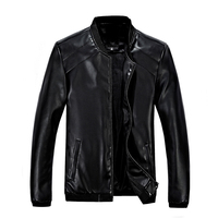 hot sale 2016 new men's leather jacket catwalks shall Slim Motorcycle PU leather Coat high quality 4 color 6 size