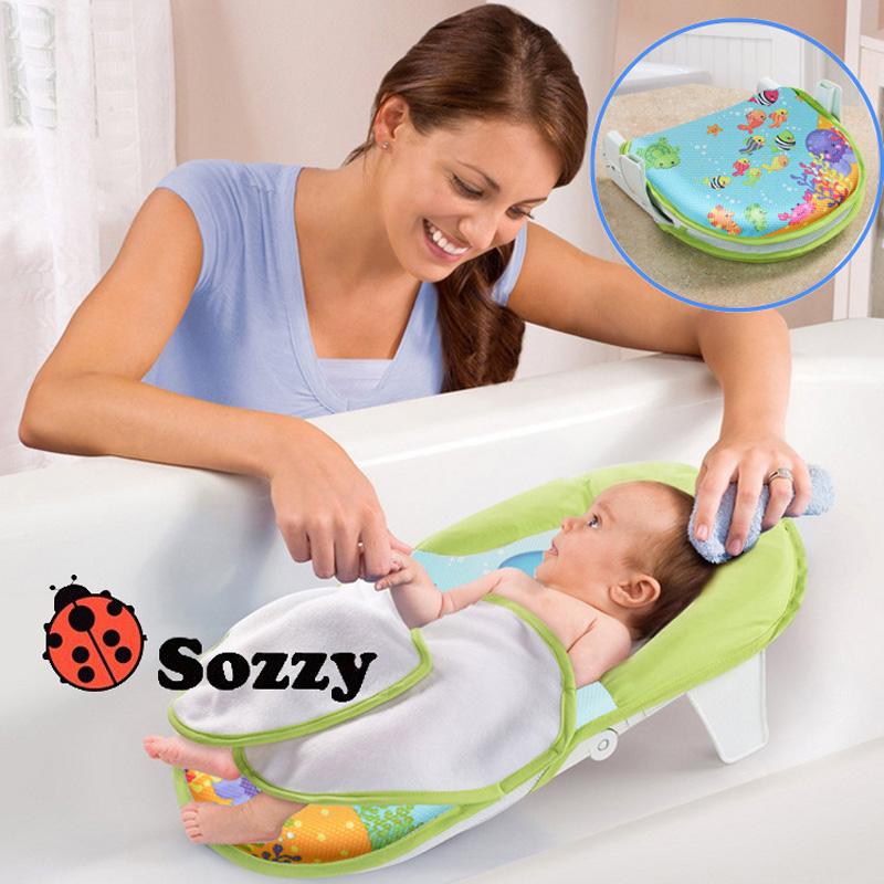 Baby Foldable Bath Bed Comfortable Bath Towel Chair Baby Bath Accessories Bath Tub(China (Mainland))