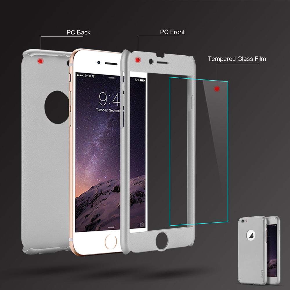Floveme 360 Degree Hard PC Case For Iphone 6 / Iphone6 6s