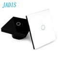 EU UK Standard Touch Switch 1gang 1 Way Wall Light Touch Screen Switch Crystal Glass Switch