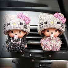 New Kiki automobile Outlet perfume Aromatherapy Lovely air conditioner mouth perfume clip High grade car perfume seat