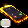 Fashion Bling Glitter Led Flash Light Up Remind Incoming Call Clear Cover For iPhone 5 5S