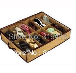 Closet Organizer Under Bed Storage Holder shoe Box Container Case Storer For 12 Shoes free shipping!