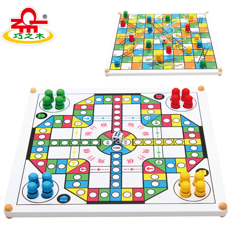 High quality wooden flight chess wooden educational toys for Table games for adults