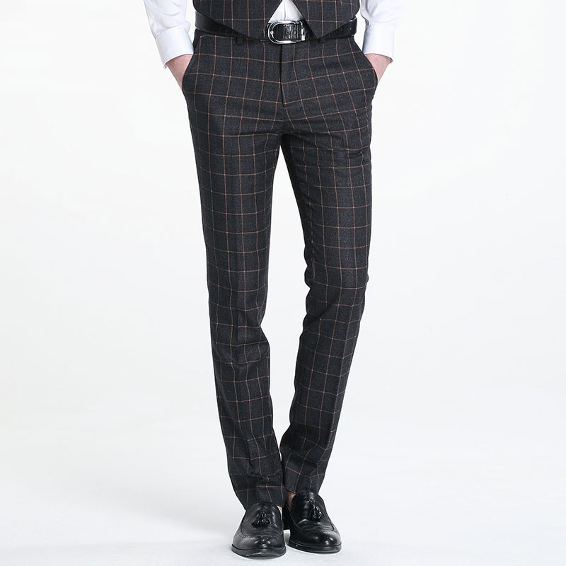 Patterned Dress Pants