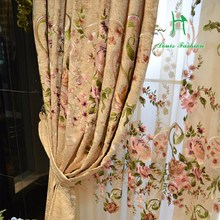 Luxury european-style sitting room custom curtain curtain embroidered Jane the curtain finished products(China (Mainland))