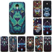 phone capa for meizu m1 note 3D cover Case for meizu m1 note colorful printing plastic hard Case coque with phone stent as gift