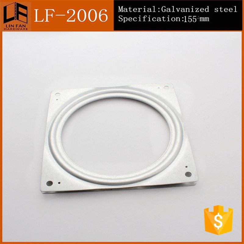 Made In China 6 Inch Square Ball Bearing Swivel Plate