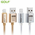 Golf USB Cable 1M 1 5M 2M 3M Aluminum Nylon 8 pin Sync Charging Data Transfer