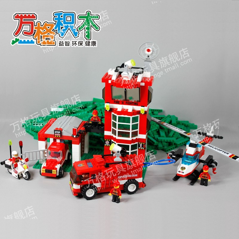 Firealarm Building Block Sets Compatible with lego city fire house 638 pcs 3D Construction Brick Educational Hobbies Toy for Kid<br><br>Aliexpress