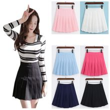 Buy 2017 summer new girls skirts pleated schoolgirls skirt uniforms cos high waist solid mini skirt female for $9.68 in AliExpress store