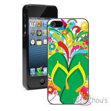 Colorful Flip Flops Sandals Protector back skins mobile cellphone cases for iphone 4/4s 5/5s 5c SE 6/6s plus ipod touch 4/5/6