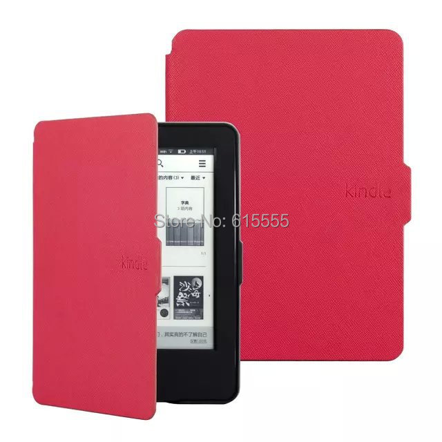New design for Amazon kindle paperwhite case cover 7colors free shipping 1set/lot+1stylus touch pen for gift(China (Mainland))