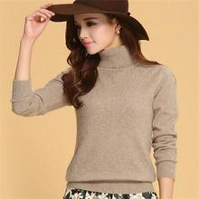 New 2016 Hot Autumn Winter Fashion Sweater Cashmere Women Sweaters Pullovers Turtleneck Knitted Slim Bottoming Sweater