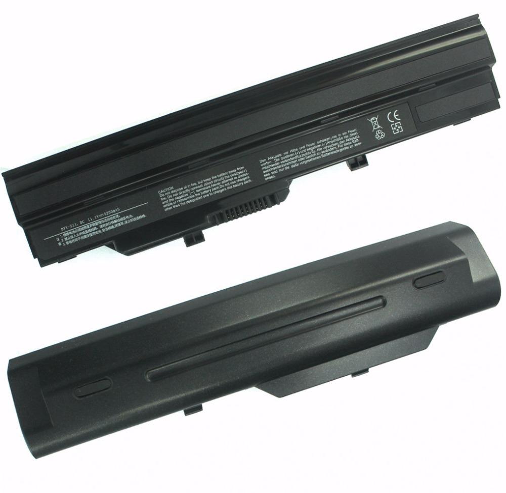 6Cells 5200mah 11.1V Laptop Battery for MSI Wind U100 U90 Wind U210 Medion Akoya Mini E1210 LG X110(China (Mainland))