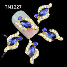 10pcs Charms Nail Art Rhinestones 3D Alloy Design Rings Bowknot Nail Art Decoration Gitter Nail Supplies Jewelry TN1227-TN1233(China (Mainland))