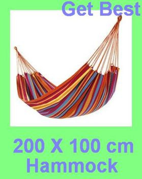 200X100cm Canvas Nylon  Single hammock tourism camping hunting Leisure Fabric Stripes outdoor freeshipping dropshipping