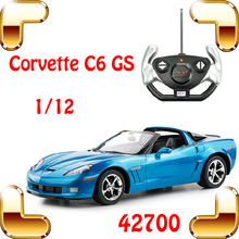 Free Shipping Rastar 42700 1/12  Chevrolet Corvette C6 GS RC Movie Roadstar Car Remote Control Large Vehicle Electric Toy Gift