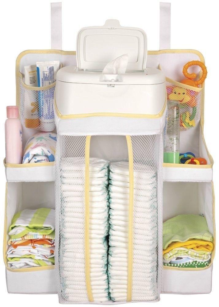 Baby dexbaby white diaper nursery organizer storage baby for Baby stuff organizer