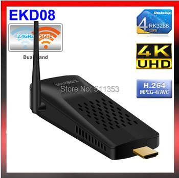 New EKD08 Android TV Box Q8 RK3288 Quad Core 1.8GHz XBMC 2G/8G HDMI H.265 Media Player 2.4G/8GHz WiFi better mk903v TV Stick