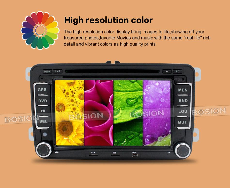 New! car dvd radio stereo GPS vid player 2Din 7Inch For VW/Volkswagen/Passat/POLO/GOLF/Skoda/Seat 3G USB GPS BT FM RDS Free Maps(China (Mainland))
