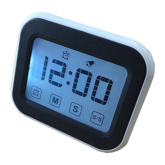 Бесплатная Доставка 12/24 Часов Тип Цифровой Отсчет Сенсорный Экран Кухонный Таймер Для Приготовления Пищи На Кухне