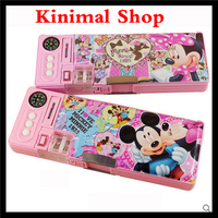 [kinimal shop] stationery box / cute / double Layer / multifunction / large capacity / pencil box / school supplies